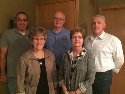 Elders: (Back) Pastor Joel Beachy, Larry Detweiler, Jeff Swartzentruber (Front) Karen Harvey, Wanda Yoder